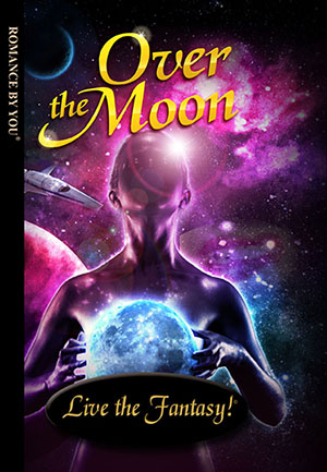 Over the Moon - a personalized romance book.