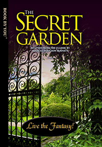 Front book cover illustration for personalized classic novel, The Secret Garden.