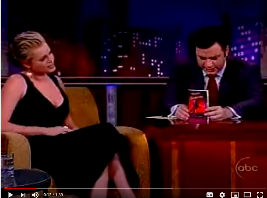 Video Thumbnail of Jimmy Kimmel on his TV show holding the book Western Rendezvous.