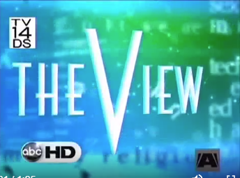 Video Thumbnail with caption for The View TV Interview.