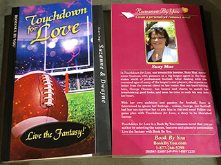 Book By You reviewer ...my thanks for my amazing personalized book - Touch Down for Love for an early Valentine's gift.