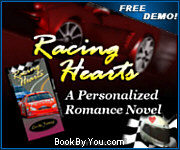 Personalized Car Racing Romance Novel - Racing Hearts!