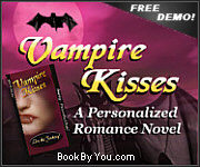 Personalized Vampire Romance Novel - Vampire Kisses!